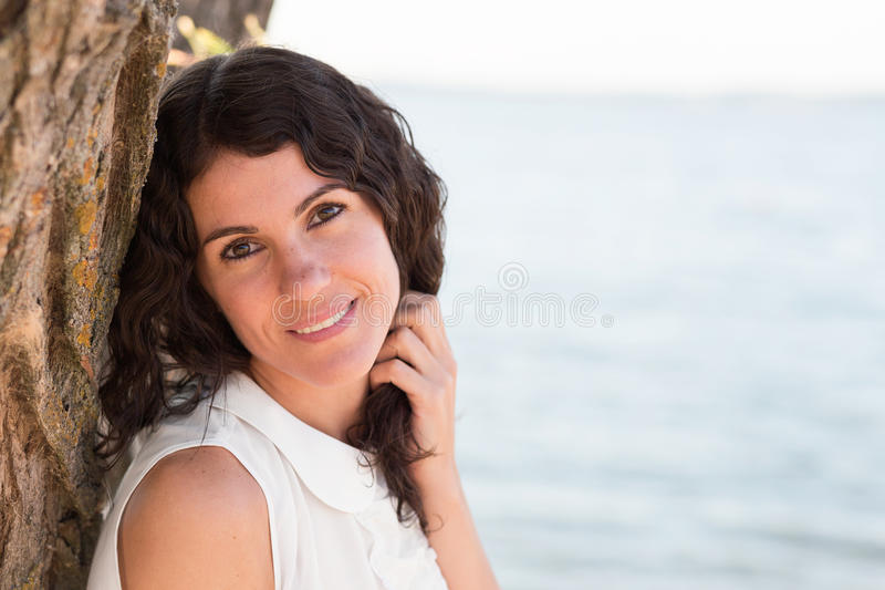 Download Portrait Of A Beautiful Young Woman Stock Photo - Image of woman, happy: 83720276