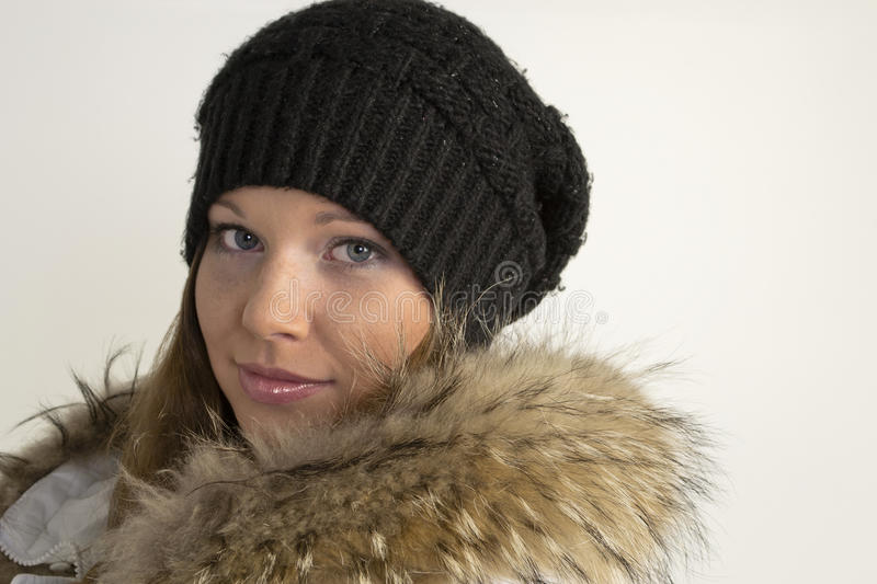 Download Portrait Of Beautiful Young Woman In Hat And Fur Stock Photos - Image: 26872483