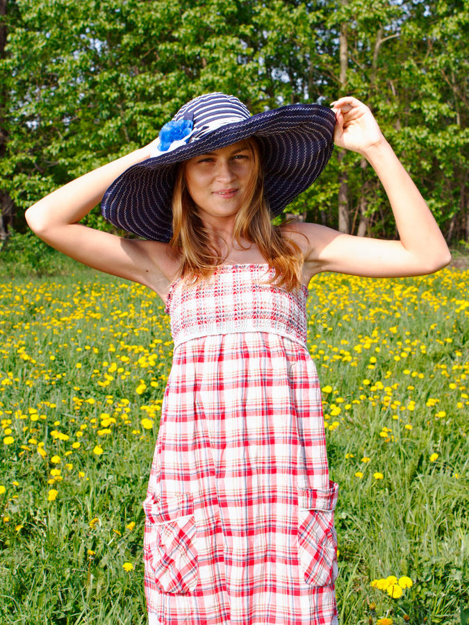 Portrait of a beautiful young woman outdoors royalty free stock photo