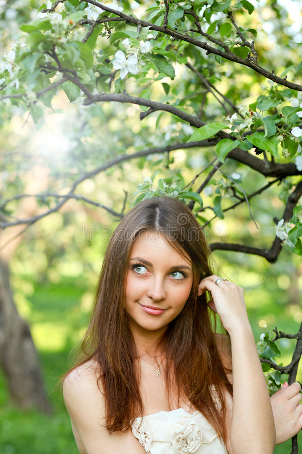 Portrait of beautiful young woman relaxing stock photos