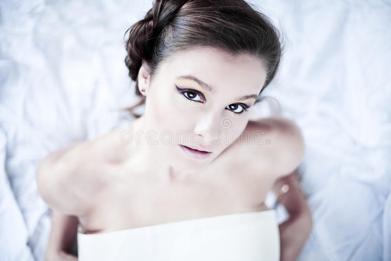 Download Portrait Of A Beauty Brunette Stock Image - Image: 21442827