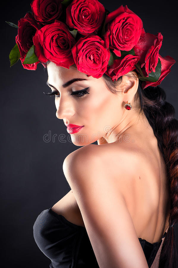 Portrait of beauty fashion model stock images