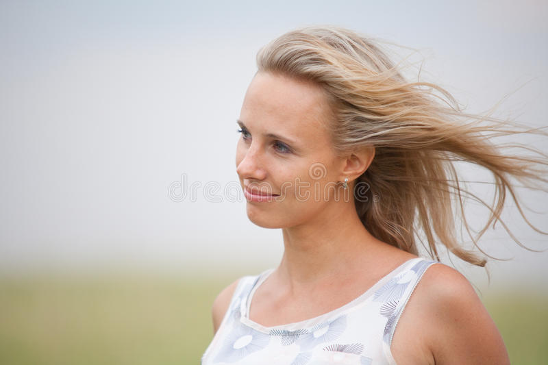 Portrait of a beauty girl royalty free stock photography