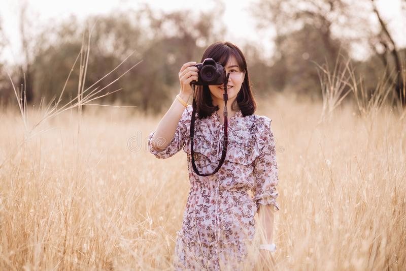 Portrait beautiful girl in nature royalty free stock image