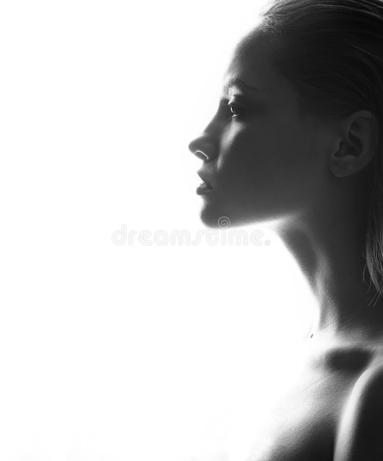 Portrait of beauty. fashion girl. stock photo