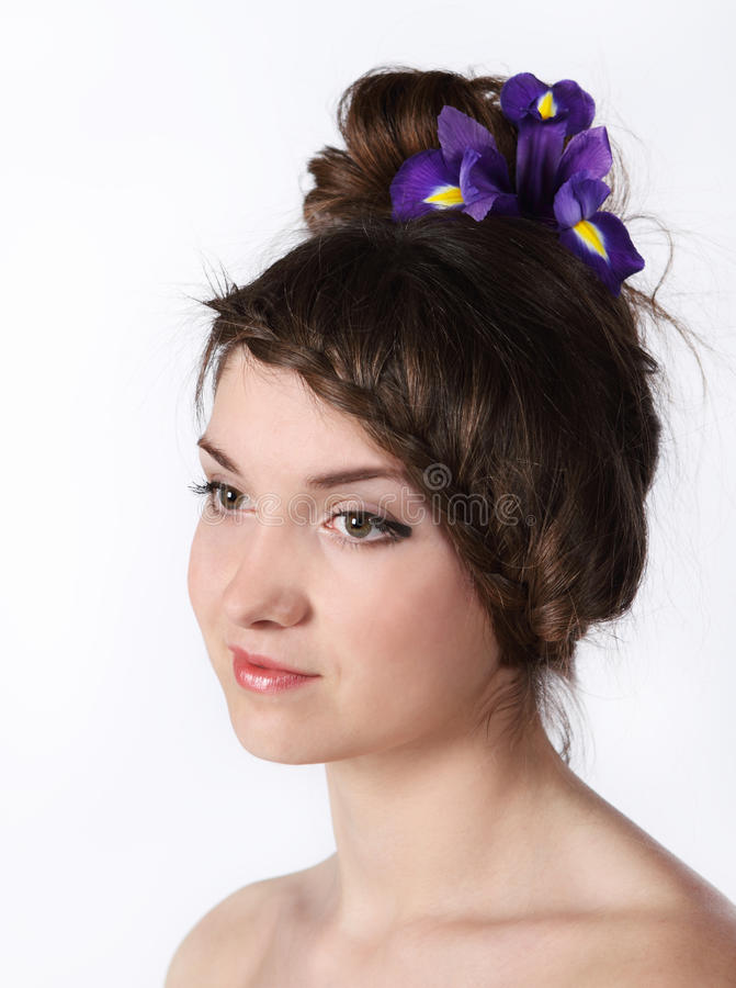 Portrait Of The Beauty Young Brunette Girl Royalty Free Stock Images