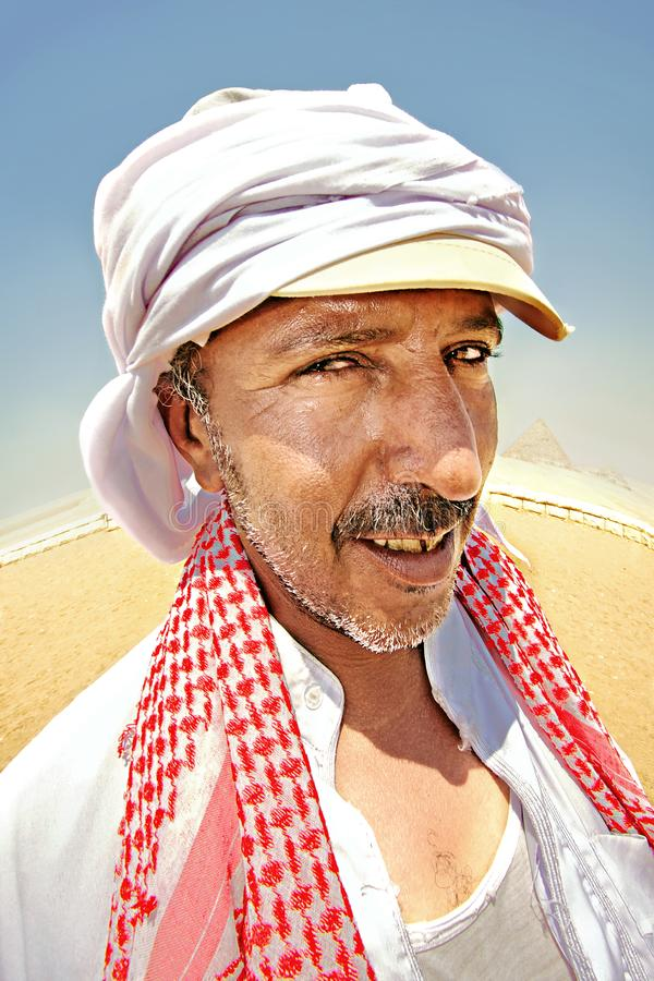 Portrait of a bedouin stock photography