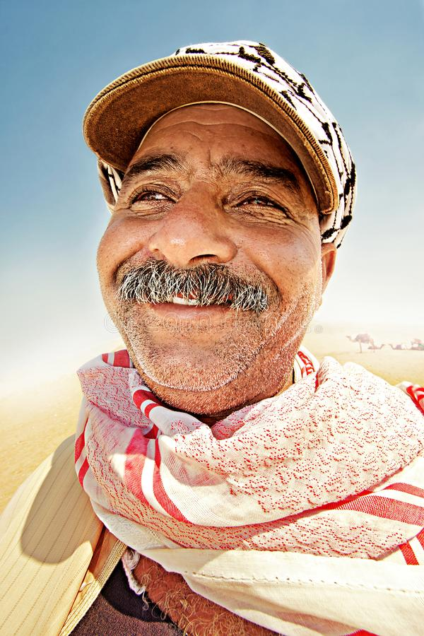 Portrait of a bedouin royalty free stock photo