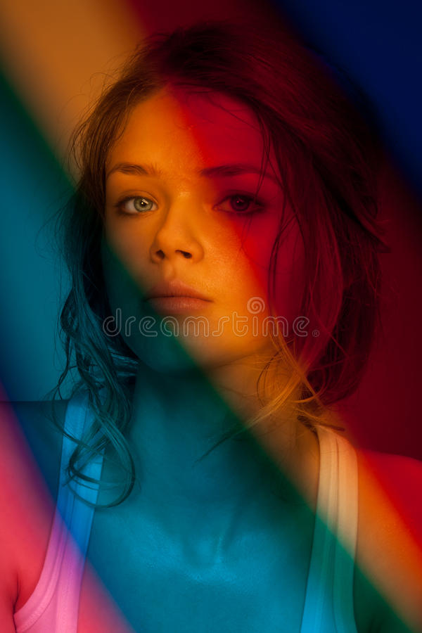 Download Portrait behind the filter stock photo. Image of colors - 19295058