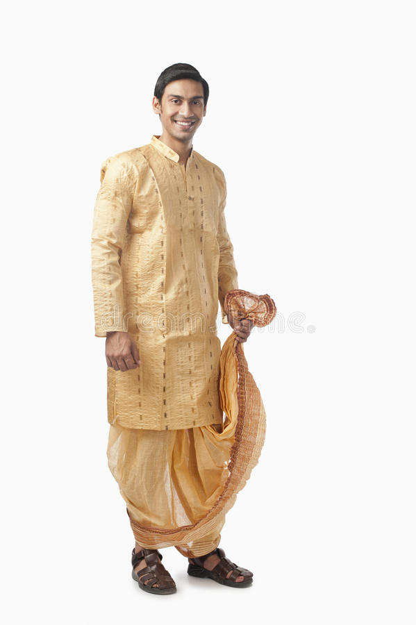 Portrait of a Bengali man smiling royalty free stock photography