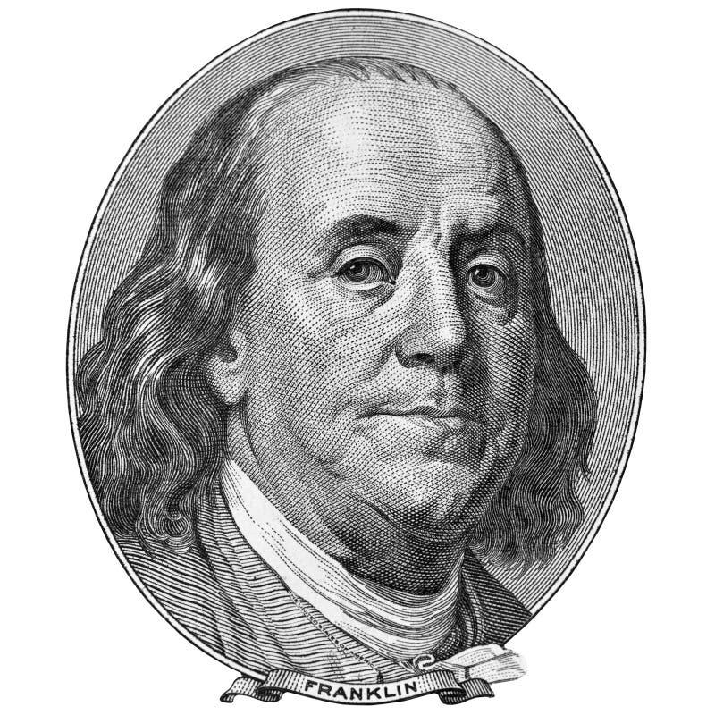 Portrait of Benjamin Franklin stock photography