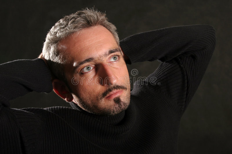 Download Portrait In Black stock image. Image of pensive, charm - 1422819