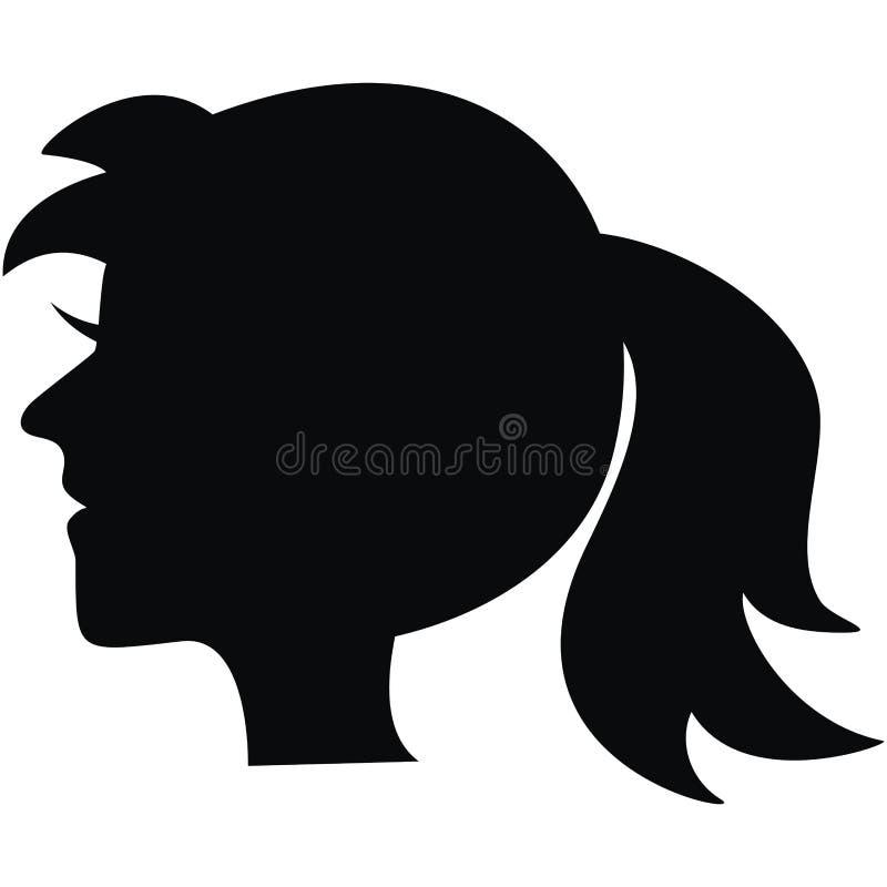 Portrait, black silhouette vector illustration