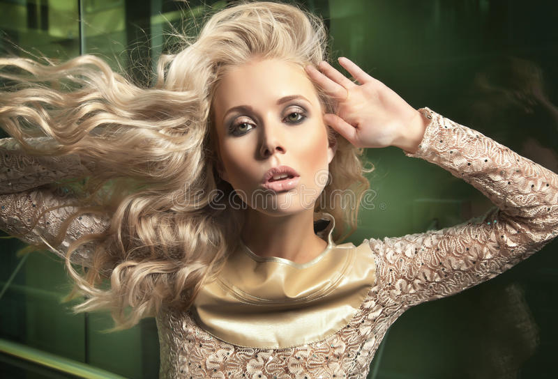 Portrait of a blond beauty royalty free stock photos