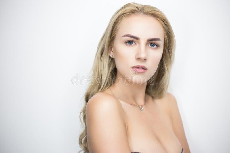 Portrait blond de Bysty images libres de droits