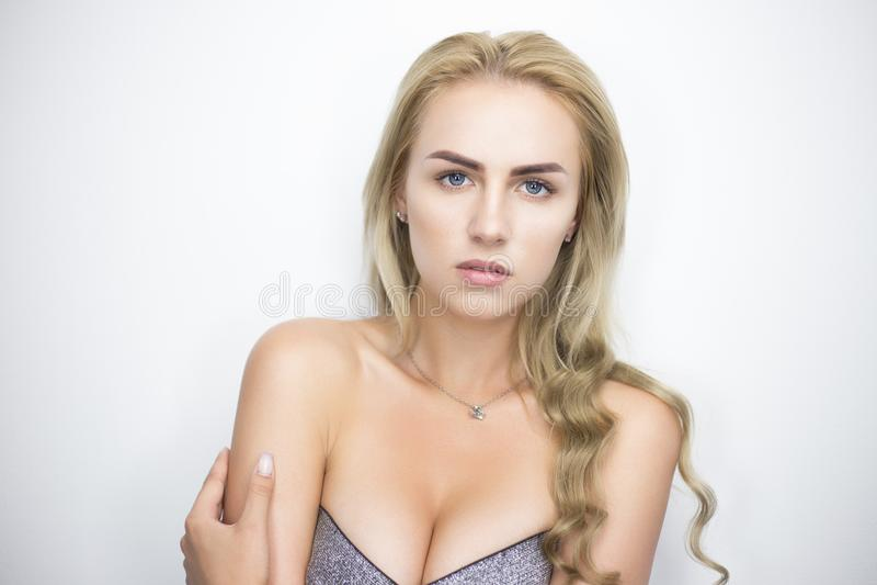 Portrait blond de Bysty images stock