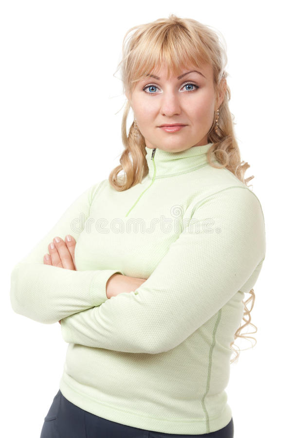 Download Portrait of a blond lady stock photo. Image of 25s, human - 26485586