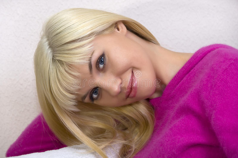 Download Portrait of blonde stock image. Image of looking, relaxation - 13622589