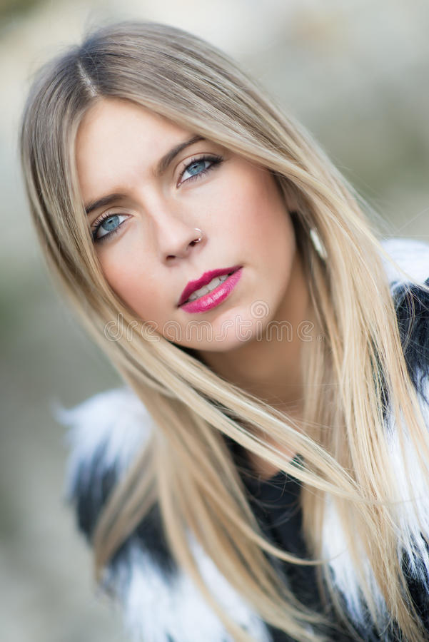 Portrait of blonde girl royalty free stock photo