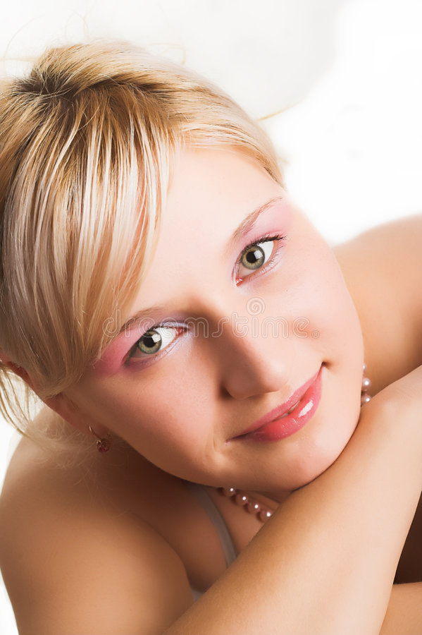 Download Portrait Of The Blonde With Green Eyes Stock Image - Image: 1717501