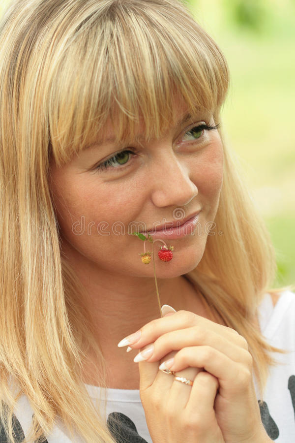 Download Portrait Of The Blonde With A Sad Smile Stock Photo - Image: 14850232