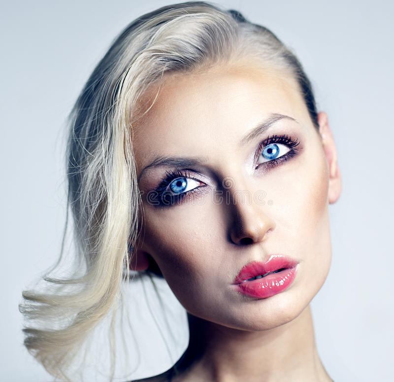 Download Portrait Of Blonde Woman Looking Away. Stock Photo - Image: 37175682