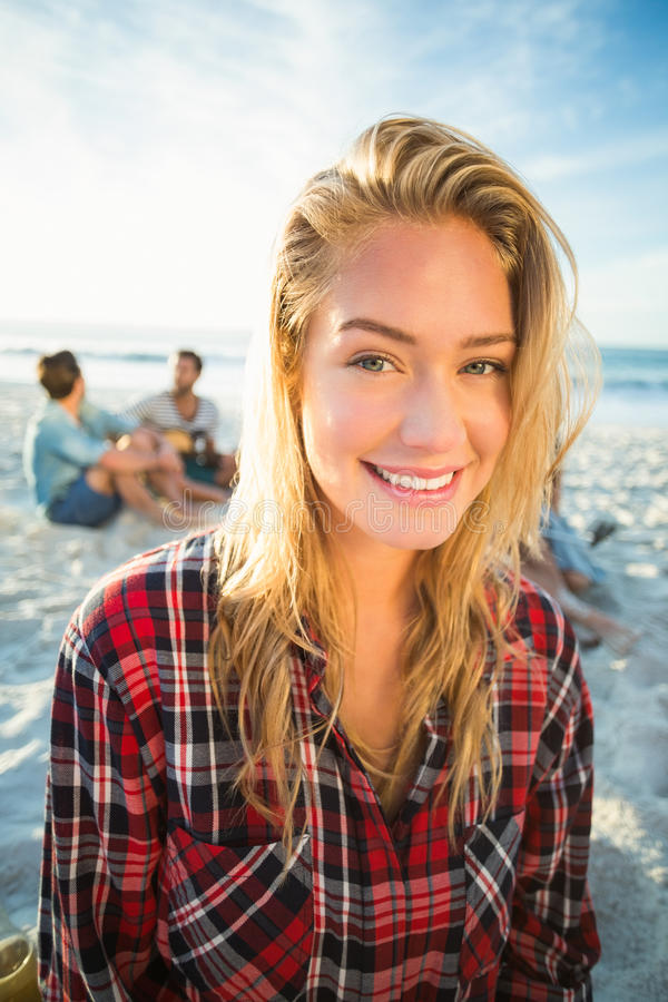 Portrait of blonde woman royalty free stock photo