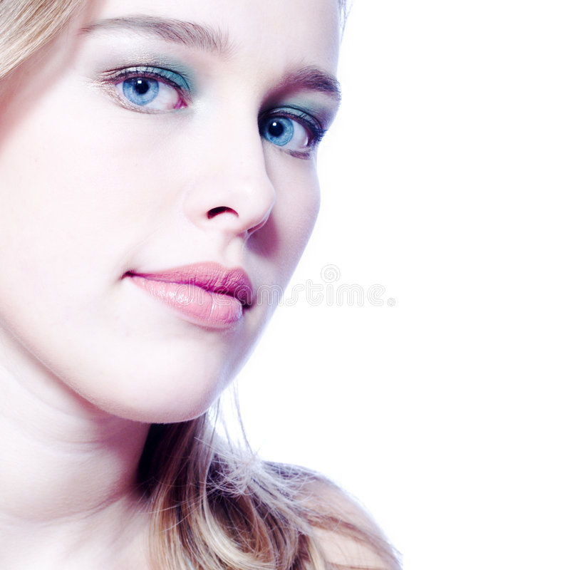 Download Portrait In Blue Royalty Free Stock Image - Image: 1703336