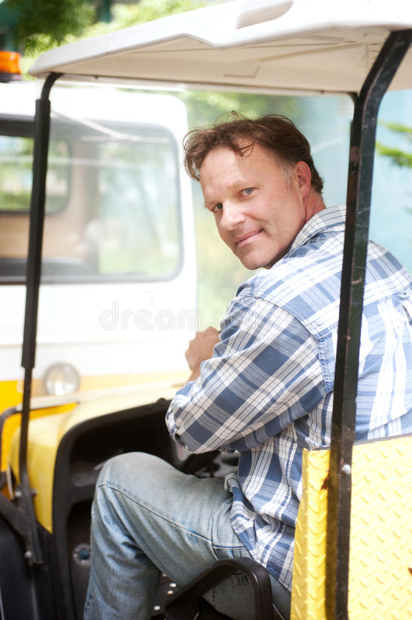 Portrait of a blue collar worker stock photos