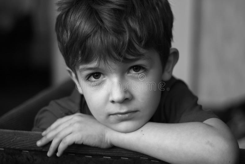 Portrait of the boy stock photos