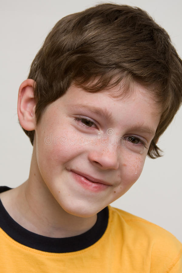 Download Portrait Of A Boy stock image. Image of emotion, cute - 14425101
