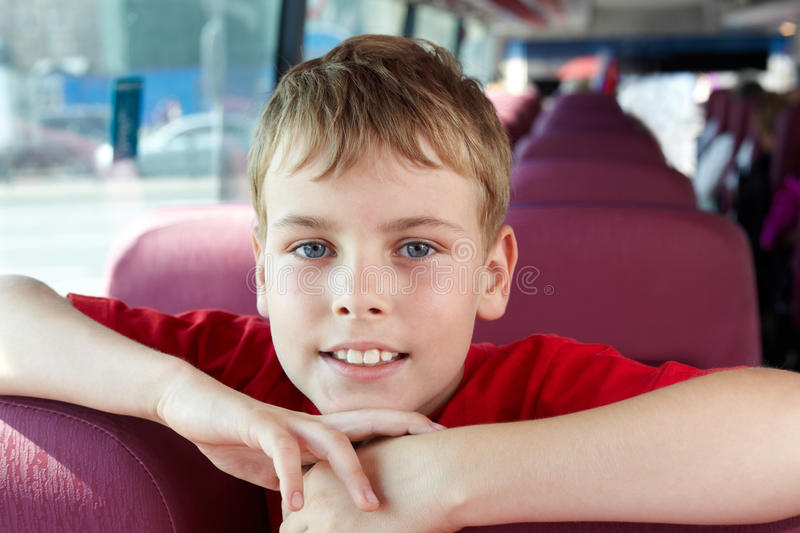 Download Portrait Of Boy In Bus Stock Images - Image: 26281704