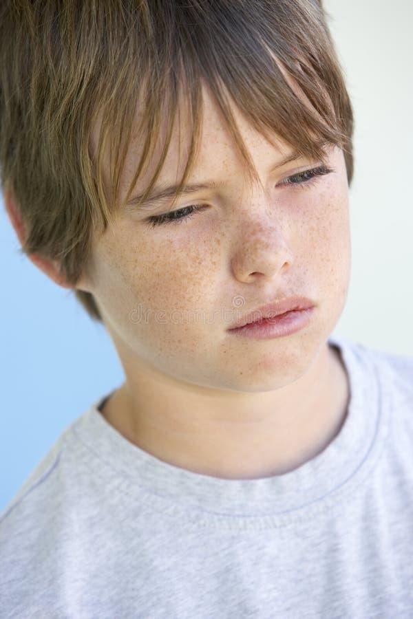 Portrait Of Boy Crying stock photo