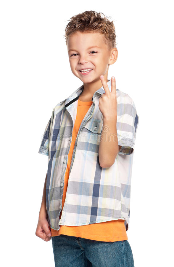 Download Portrait of boy stock image. Image of happiness, agreement - 33871021