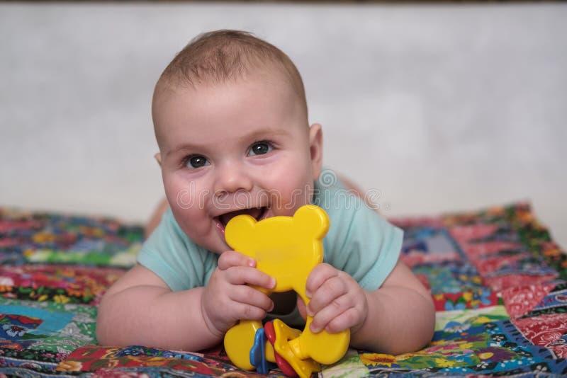 Portrait of boy infant royalty free stock photography