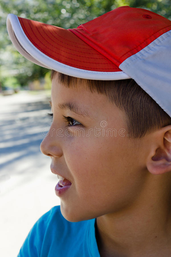 Download Portrait Of A Boy In Profile Stock Photo - Image: 25893672
