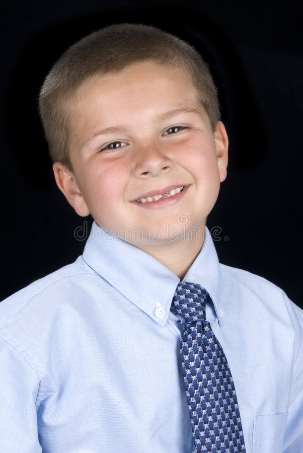 Portrait of Boy in Shirt and tie
