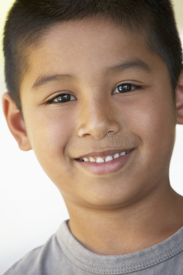 Portrait Of Boy Smiling stock photos