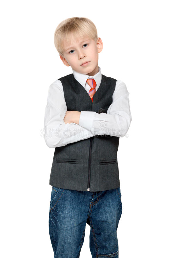 Download Portrait Of The Boy In Vest And Tie Stock Images - Image: 12067534