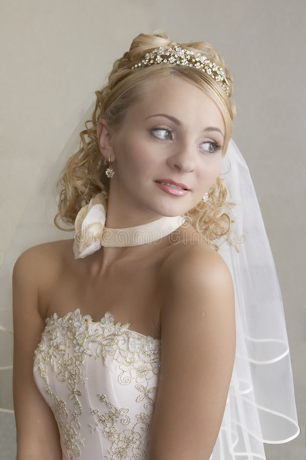 Portrait of the bride. The bride waits for the groom royalty free stock photo