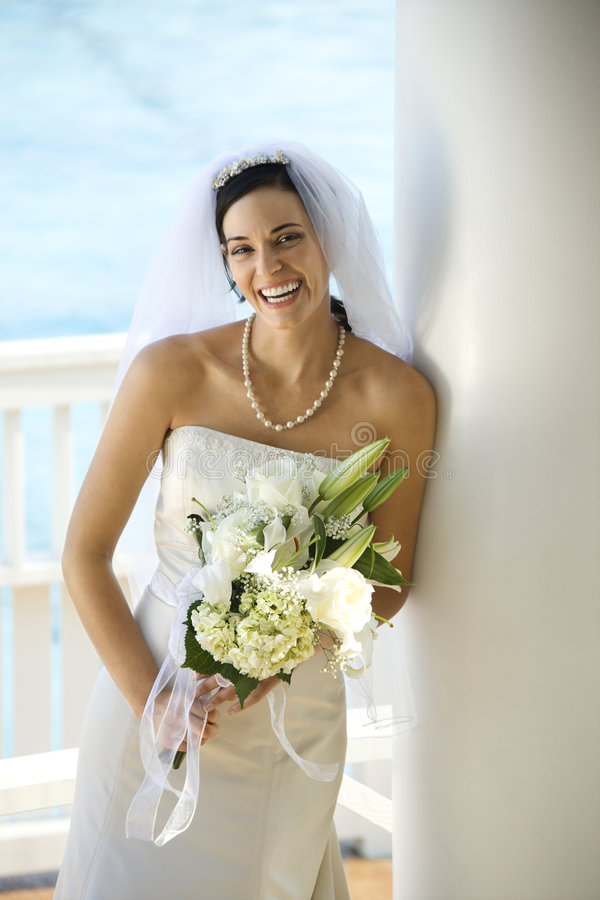 Portrait of bride. royalty free stock photography