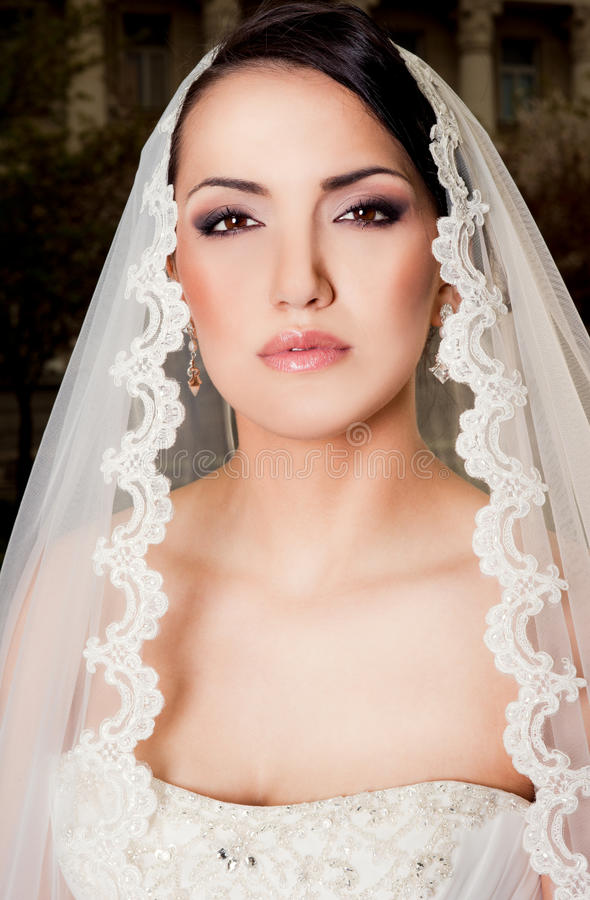 Portrait of bride stock photos