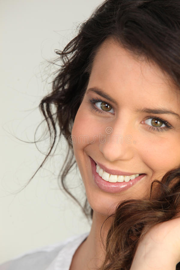 Download Portrait of brunette stock photo. Image of comfortable - 24496452