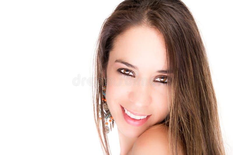 Download Portrait Of A Brunette Beautiful Hispanic Girl Stock Photo - Image: 26594460