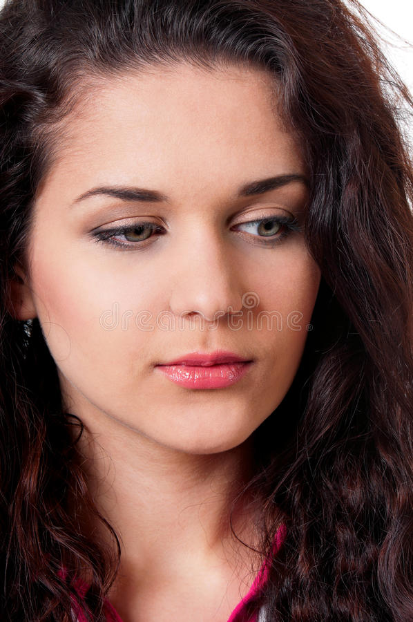 Portrait brunette girl royalty free stock photos