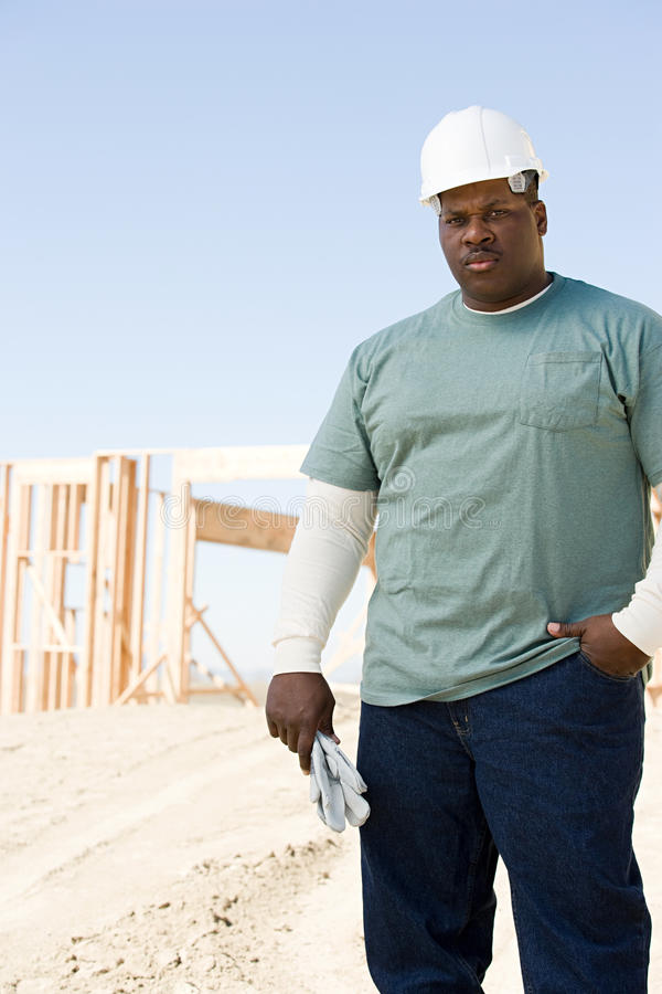 Portrait of a builder royalty free stock images