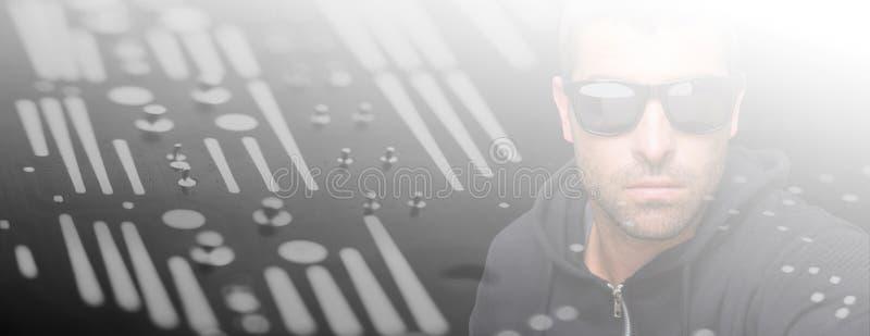 Composite image of portrait of burglar wearing sunglasses vector illustration