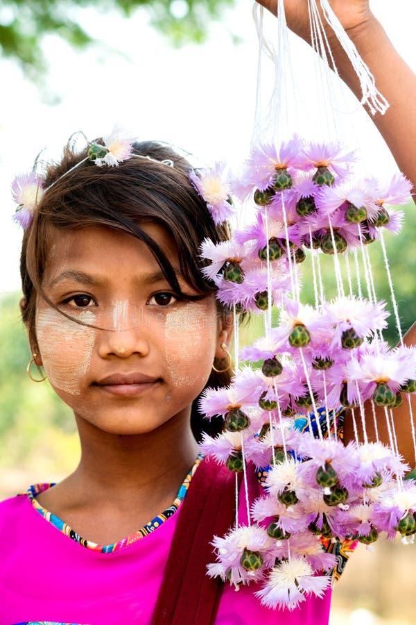 Portrait Burmese girl stock photos