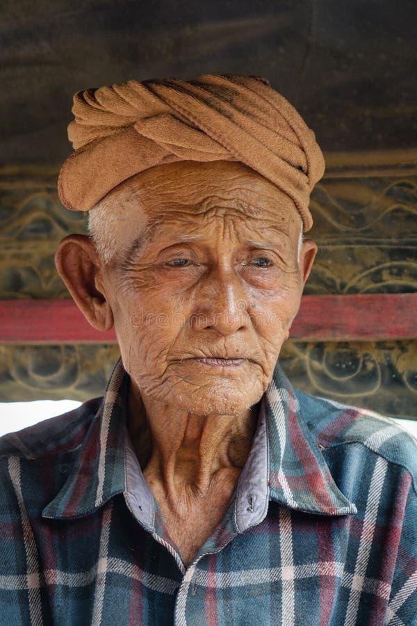 Portrait of Burmese man in Innwa, Myanmar.  royalty free stock photo