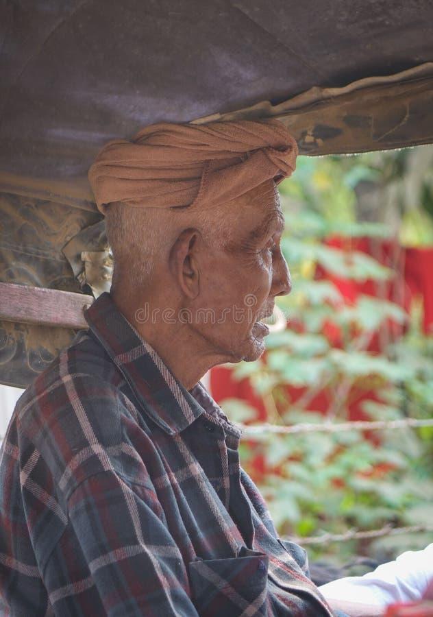 Portrait of Burmese man in Innwa, Myanmar.  stock photos